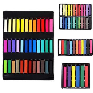 ICIK272 Beauty Convenient Temporary Super Hair Dye Colorful Chalk Hair Color Alcohol-Free chalks For The Hair Giz Pastel
