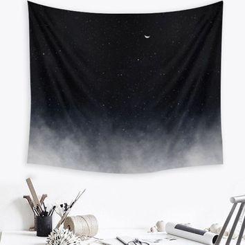 150X130cm Wall Hanging Black Polyester Tapestry Indian Mandala Throw Blanket Dorm Cover Bedspread Mat Home Room Decoration Craft