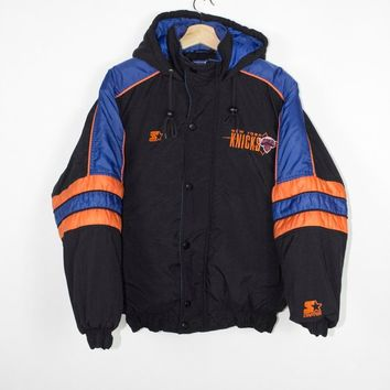 vintage new york knicks starter jacket - 90s - nba - basketball - small