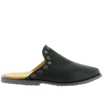 Musse & Cloud Izzie - Black Leather Studded Flat Mule