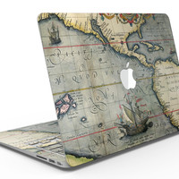 The Vintage Coast Map - MacBook Air Skin Kit