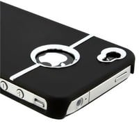 Deluxe Black Case Cover W/chrome for Iphone 4 4G 4S AT&T Verizon Sprint