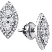 Diamond Fashion Earrings in 14k White Gold 0.65 ctw