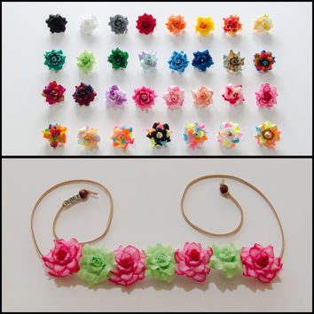Customizable Rose Flower Crown, Flower Headband, Coachella Crown, Electric Daisy Carnival, TomorrowWorld, Ezoo, Bonnaroo, Personalized Gift