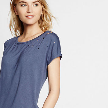 express one eleven distressed tee