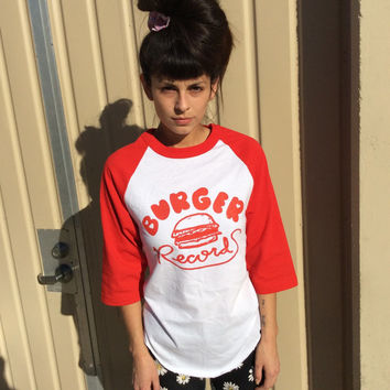 Burger Records Baseball Tee