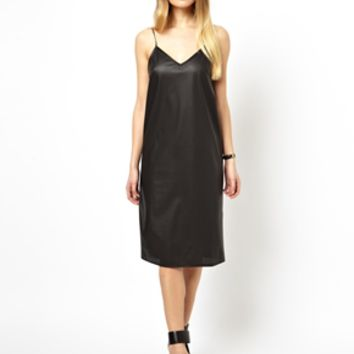 ASOS Leather Look Cami Dress