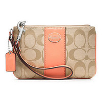COACH SIGNATURE SMALL WRISTLET - Wristlets - Handbags & Accessories - Macy's