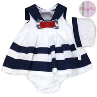 Girls Dulce de Fresa Sailor Dress pants hat