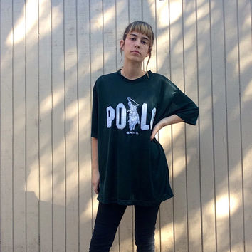 POLO Forest Green Sheer Oversize Tee