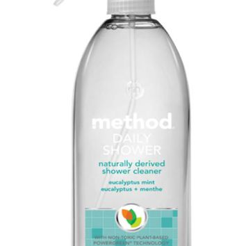 Method® 01390 Daily Shower Natural Cleaner Spray, Eucalyptus Mint, 28 Oz