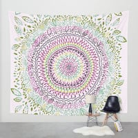 Intricate Spring Wall Tapestry by Janet Broxon