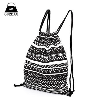 National Women Canvas Drawstring Backpack Newest Vintage College Students School Bagpack Girls Mochila Feminina Sports Sack Bag