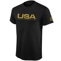 U.S. Ski Team Gold is the New Black T-Shirt – Black