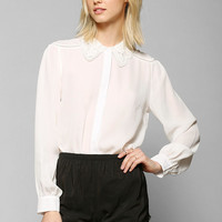 Coincidence & Chance Crochet Collar Blouse - Urban Outfitters