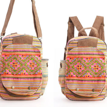 Gypsy Backpack Diaper Bag, Student/ Travel/ College/ Teen Boho Hippie
