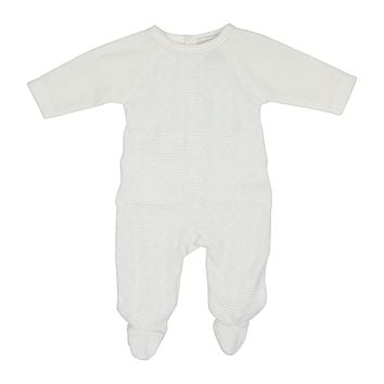 Chant De Joie Unisex-baby' Diamond Knitted Velour Footie