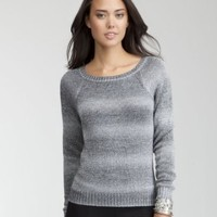 Gradient Slash Back Sweater