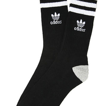 adidas The Originals Roller Crew Socks in Black White : Karmaloop.com - Global Concrete Culture