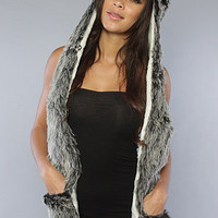 The Anoki Hooded Scarf in Silver : deLux : Karmaloop.com - Global Concrete Culture