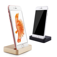 Portable Data Sync USB Basic Charger Dock For iPhone 6 6s 7 Plus se 5 5c Lighting Charging Dock Station Holder Stand