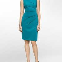 starburst scuba sleeveless sheath dress | Calvin Klein