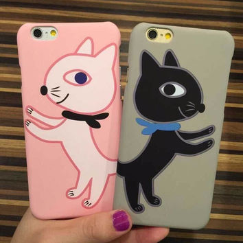 Hot Sale On Sale Stylish Iphone 6/6s Hot Deal Cute Lovely Couple Cats Phone Case [4915484612]