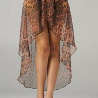 Animal Print Hi-Lo Skirt