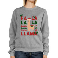 Fa La La Llama Sweatshirt Cute Christmas Gifts