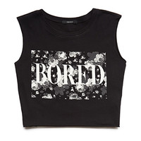 Bored Floral Crop Top