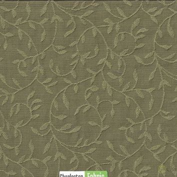 Olive Green Woven Jacquard Fabric