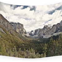Society6 Yosemite Tunnel View Wall Tapestry - Rustic - Tapestries - by Society6