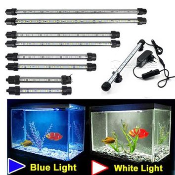 Aquarium Fish Tank Bar Submersible Waterproof Clip Lamp Decor EU Plug