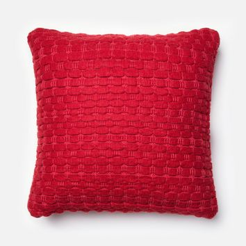 Loloi Red Decorative Throw Pillow (P0040)