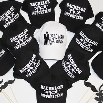 4027e218 Bachelor Support Tesm, Bachelor party hats, Stag party and Groom