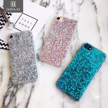 Silicone Bling Powder Soft Phone Case