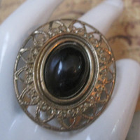 MODERN VICTORIAN -Ring Designed With Upcycled Vintage Jewelry