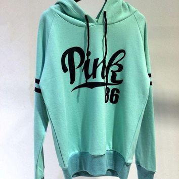 """""""Victoria's Secret """" Fashion Casual Fashion Letter Print Hooded Long-sleeves Pullover Tops Sweater Hoodie"""
