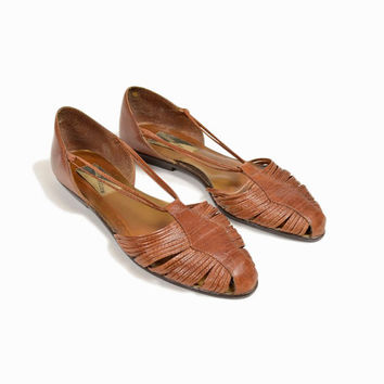 Vintage Leather Strappy Sandals - women's 10