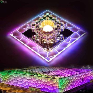 Modern Square Acrylic Led Chandelier Lighting Lustre Crystal Corridor Led Ceiling Chandeliers Lights Led Chandelier Downlights