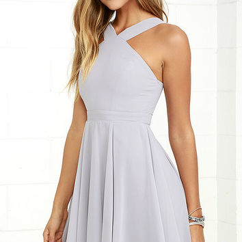 Forevermore Grey Skater Dress