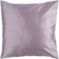 "18"" Shiny Solid Purple Lavender Decorative Down Throw Pillow"