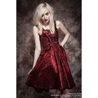 Thorn Burgundy Black Party Dress by Spin Doctor