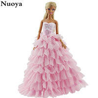 Princess Evening Party Clothes Wears Dress Outfit Set for Barbie Doll with Hat Great Christmas Gift