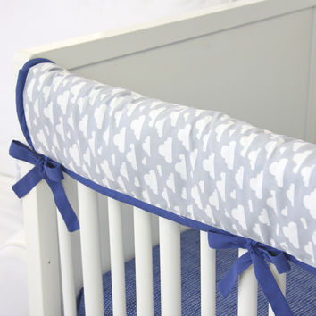 Cloudy Day Crib Rail Cover