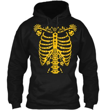 SKELETON  | Halloween Costume Mexican Day Of The Dead Pullover Hoodie 8 oz