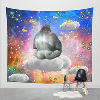 Gorilla Wall Tapestry by Haroulita