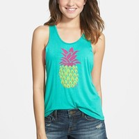 Junior Women's Luv Surf 'Pineapple' Cutout Graphic Tank