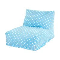 Printed Bean Bag Lounge Chair - Small Polka Dots - Aquamarine