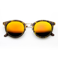 Vintage Dapper P3 Horned Rim Revo Lens Sunglasses 9617